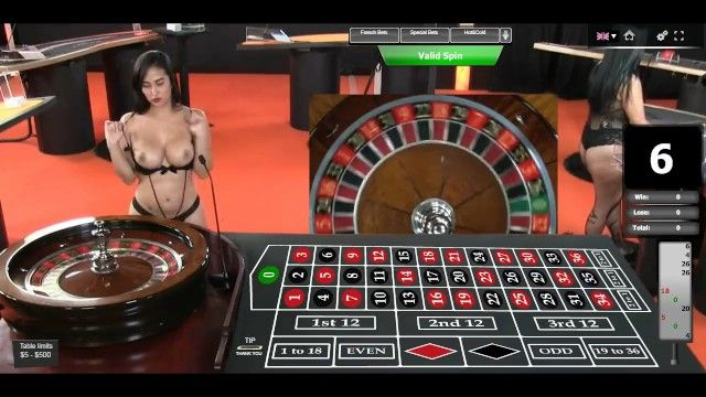 Hawt dealercroupier myla shows her hawt arse and large pantoons online roulette