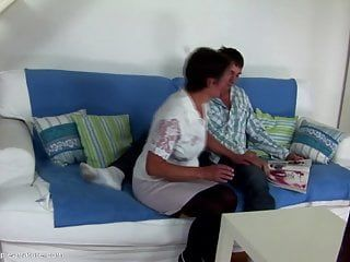 Taboo home sex son cums in mommy