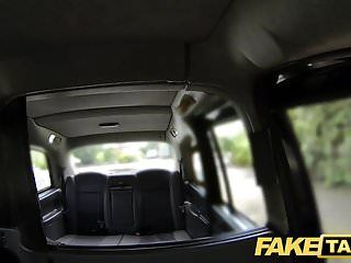 Fake taxi curvy golden-haired with giant bazookas and large booty