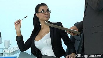 Hot milf jasmine jae plays the office whore addicted to hard wang