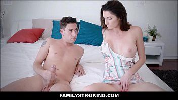 Sexy large billibongs milf step mama bonks masturbating son