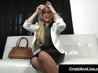 Boss cristi ann confronts employee who stole her indecent pantyhose
