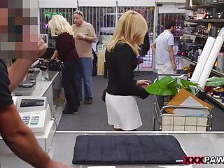 Hawt milf gangbanged at the pawnshop - xxx pawn