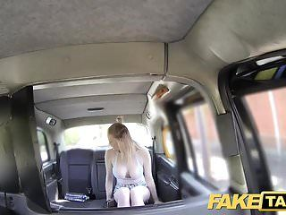 Fake taxi cabby tries his beginners luck on sexy golden-haired