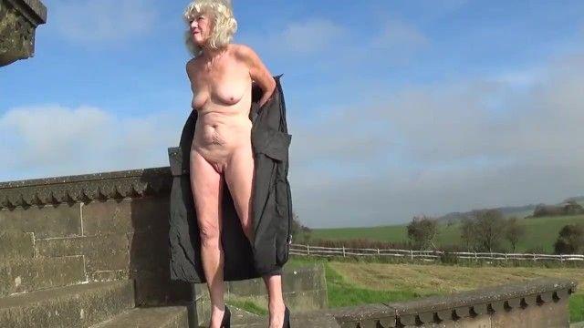Non-professional granny nude in public 1