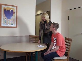 Juvenile boy 1st time with milf