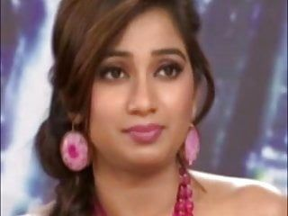 Indian singer shreya ghoshal showing sexy bazookas on a tv show