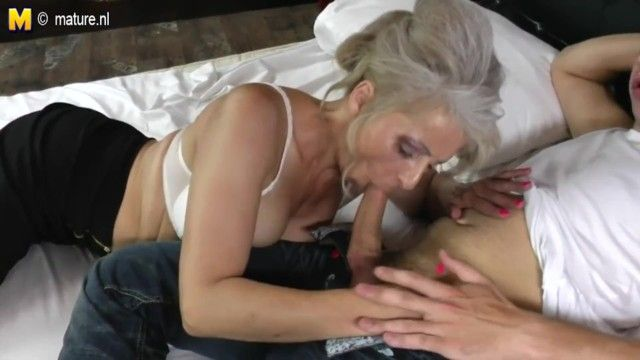 Ger: bushy grandma hard screwed by youthful paramour