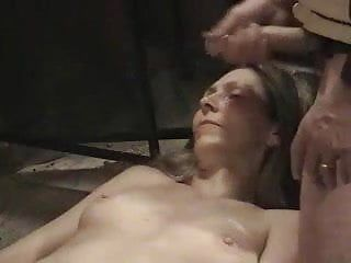 Exposed milf awaits cumload dislike
