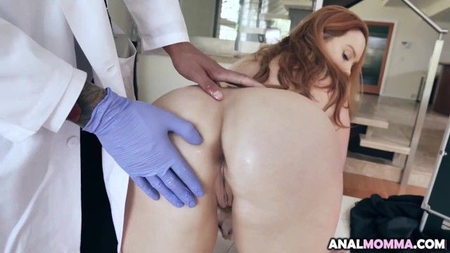 Breasty redhead summer hart receives complimentary tit and rectal exam and doc uses his hard rod as tool