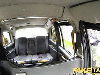 Fake taxi older breasty milf licks butt and empties large balls
