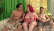 Fatty eliza allure taked two knobs in her love tunnel
