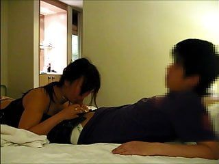 Excited oriental milf engulfing ramrod